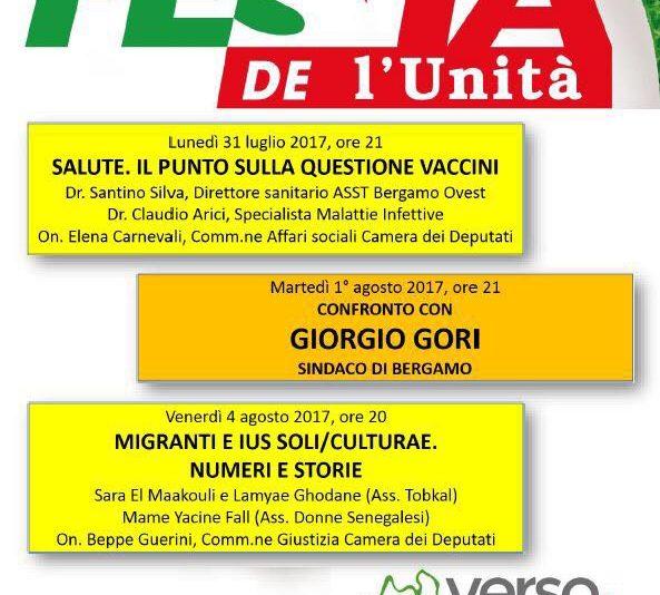 Dibattiti festa Unità 2017 Treviglio 1